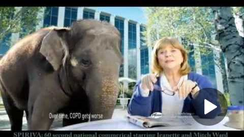 Spiriva 60 Second National TV & Cable Spot Starring Jeanette Oconnor, Rosie (elephant) & Mitch Ward