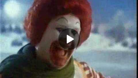 McDonalds 80's Christmas Commercial Ice Skating