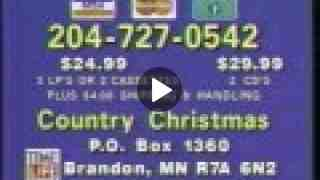 Time Life Country Christmas music commercial