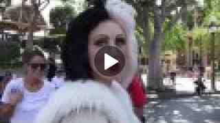 Cruella Meets a Puppy in Disneyland