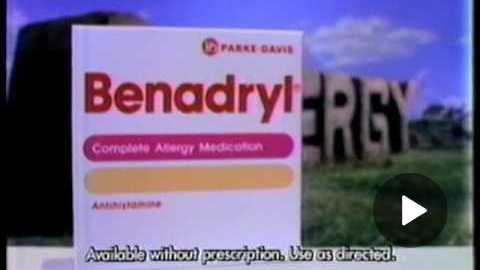 Benadryl Commercial (1988)