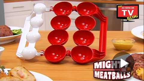 Mighty Meatballs As Seen On TV Commercial Buy Mighty Meatballs As Seen On TV Stuffed Meatball Maker