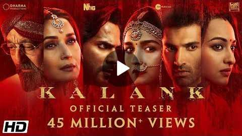 Kalank | Official Teaser | Varun | Aditya Roy | Sanjay | Alia | Sonakshi | Madhuri | Abhishek Varman