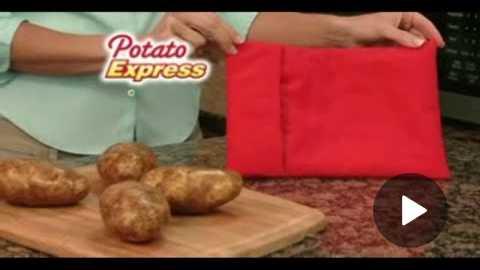 Potato Express Commercial Potato Express As Seen On TV Microwave Potato Sack | As Seen On TV Blog