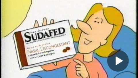Sudafed Nasal Decongestant Commercial (1997)