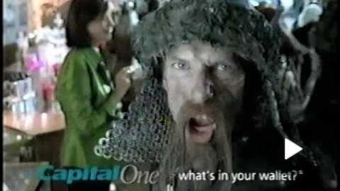 Capital One Vikings Christmas 2000s Commercial (2004)