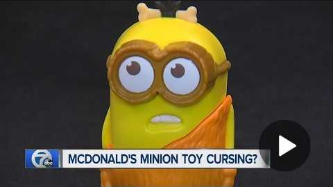McDonald's Minion toy cursing