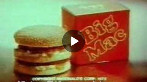1975 McDonalds Commercial Two All Beef Patties Special Sauce Lettuce....