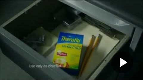 TV Commercial Spot - Theraflu - Severe Cold & Flu Relief - Work's In 5 Minutes - Serious Power