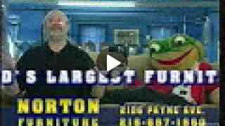 Norton Furniture Frog on the Couch Commercial