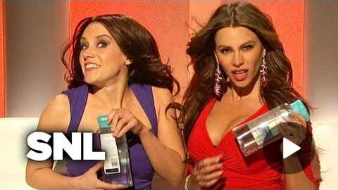 Sofia Vergara and Penelope Cruz Sell Pantene Shampoo - SNL