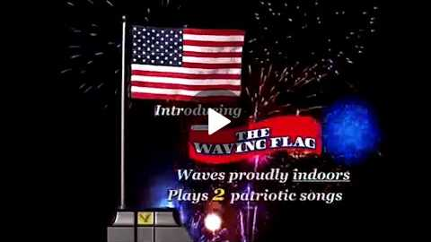 The Waving Flag Commercial Buy The Waving Flag As Seen On TV American Flag With Realistic Waving