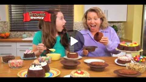 Brownie Derby As Seen On TV Commercial Brownie Derby Deep Dish Brownie Bowl | As Seen On TV Blog