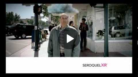 Seroquel XR: 0:28 of advert, 1:02 of horrible side effects!