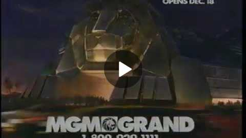 Fall 1993: MGM Grand, Las Vegas, TV Spot Prior To Opening